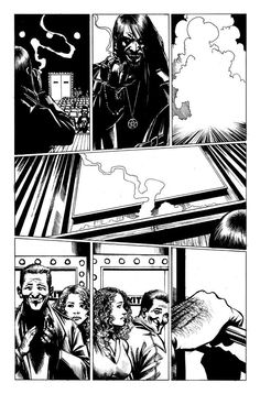 Inked page from The Night Projectionist by Diego