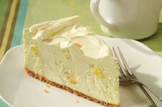 Say Aloha! to your new favorite no-bake cheesecake recipe! It's super light and creamy, made with cream cheese, whipped topping, and a packet of gelatin.