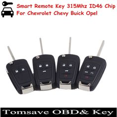 Free Shipping Folding Smart Remote Key For Chevy Buick Opel For Chevrolet Cruze/Camaro/Impala/Malibu/Sonic 315MHZ with ID46 Chip #Affiliate