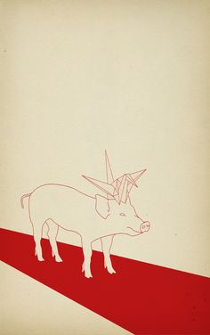 """Pig"" Art Print by 712712 on Society6."