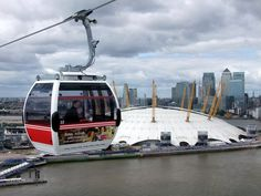 Emirates cable car between The O2 Arena and The Royal Docks (Excel Exhibition Centre)