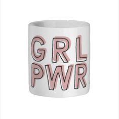 672672720 Girl Power Mug/White Ceramic Mug/Gift for Feminist/Gift For Girl/Girl Boss  Mug/Feminist Cup/Grl Pwr Mug/Female Empowerment Gift