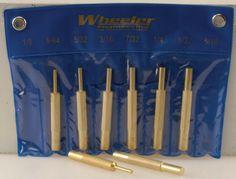 Wheeler Gunsmithing Brass Punch Set.