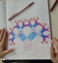 Baum pythagoreische Pixel Drawing, Math 2, School Projects, Pixel Art, Sculpture, Drawings, Anastasia, Montessori, Homeschooling