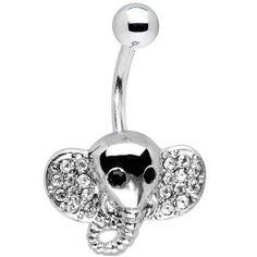 Crystalline Gem Elephant Belly Ring
