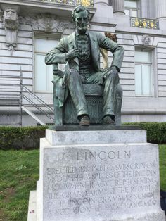 273 best lincoln statues images in 2019 lincoln statue statues rh pinterest com