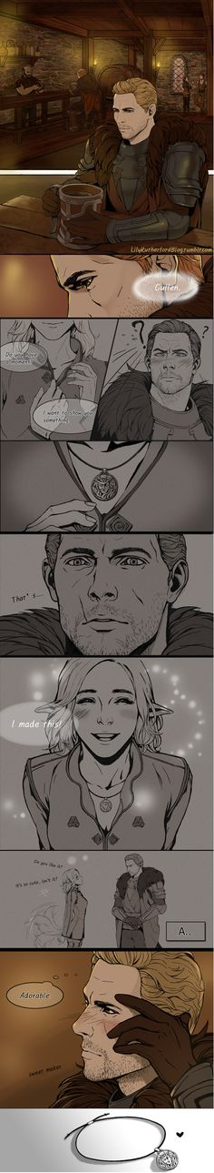 Cullen & Inquisitor - He's got it bad. #HelloCommander
