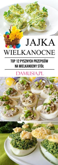 Jajka Wielkanocne – TOP 12 Pysznych Przepisów na Przekąski na Wielkanocny Stół Easter Snacks, Taco Party, Polish Recipes, Yummy Eats, Frittata, International Recipes, Food Design, Delish, Food And Drink