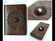 Faux Leather Polymer Clay Notebook/Sketchbook/Journal Cover | Fimo | Velvetorium - YouTube