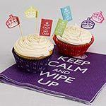 Buy Keep Calm Theme 100 Cupcake Cases | 50th Birthday | Partyrama.co.uk