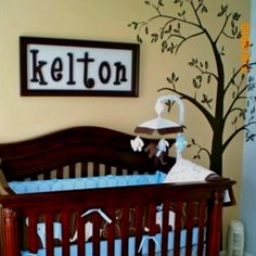Vinyl tree from Etsy..Kelton's baby boy nursery:)