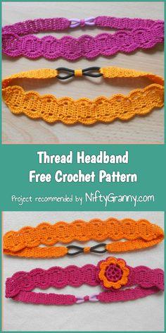 Thread Headband Free Crochet Pattern #crochet #freecrochetpatterns #headband