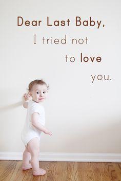 Dear Last Baby... A first birthday letter