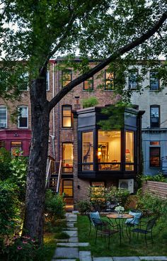 Prospect Heights Row House (rear view)