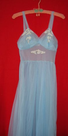 1950s Lingerie Nightgown Peignoir by Parsellettas