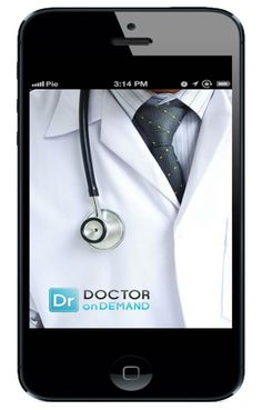 """""""Doctor On Demand: ...a mobile application for your iPhone/iPad or Android phone/tablet that lets you video chat with a real, US-licensed physician ready to help you. Signing up is free and takes about a minute. There are also no subscription fees. Only pay when you talk to a doctor."""" Click through to find the page with this image, which will walk you through a typical session with this creative and potentially very helpful new app."""