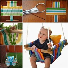 HANDY DIY: DIY Hammock-Type Baby Swing with instructions