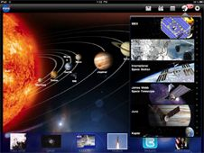 NASA app for iPad by NASA.  Also available for iPhone.  Free