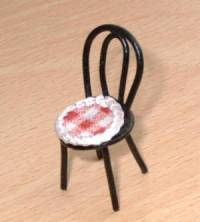 Making a 1/24 scale cafe chair