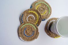 Rope and twine coasters