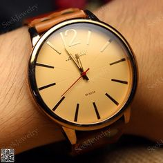 men s handmade antique leather wrist watch brass mirror watches vintage mens wristwatches leather watch classic by seekjewelry