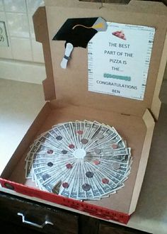 Quot Here S Some Dough Quot Pizza Box Money Gift Gifts To Make