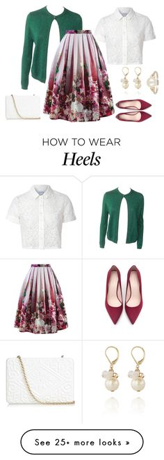"""outfit 2766"" by natalyag on Polyvore featuring Versace, Glamorous, Chicwish, Zara, Anya Hindmarch, The Limited and Effy Jewelry"