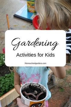 Gardening with Kids - Child Led Activities - Homeschool Gardens Summer Activities For Kids, Family Activities, Learning Activities, Plant Projects, Projects For Kids, Autumn Garden, Easy Garden, Free Plants, Different Plants