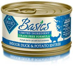 Blue Buffalo Basics Cat Duck Entree Wet Cat Food 3 oz Can Pack of 24 * Check this awesome product by going to the link at the image.
