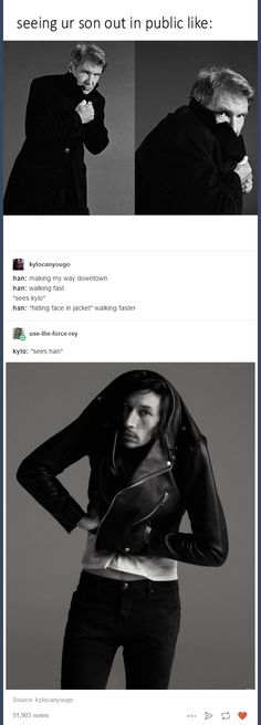 "It seems Kylo is the exact same way. XD ""Oh gosh, there's my dad.  Hide me."" XD"
