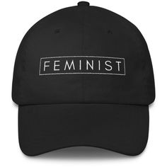 Feminist Classic Cap ($30) ❤ liked on Polyvore featuring accessories, hats, cap, feminism and cap hats
