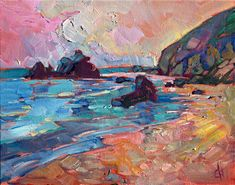 Erin Hanson creates vibrant and inspiring landscapes in her signature modern blend of classic impressionism and expressionism, which is becoming well known as