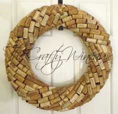Medium Large Handmade Wine Cork Wreath, Without Grapes/No Grapes, Recycled Wine Cork Door Wreath Champagne Cork Crafts, Wine Cork Crafts, Nutrition Education, Wine Cork Wreath, Recycled Wine Corks, Cork Art, Sunflower Wreaths, Winter Theme, A 17
