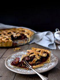 Pradobroty: Křehký švestkový koláč / plum pie Plum Pie, Waffles, Sweet Tooth, Breakfast, Food, Meal, Essen, Waffle, Morning Breakfast