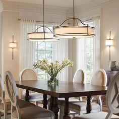 Dining room lighting. Emory Collection Emory 3 Light Pendant/Semi Flush - CLP. Kichler