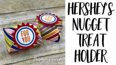 Hershey's Nugget Treat Holder - YouTube