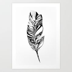 Feather - Lucidity Art Print by Adelle Rae. Would make a lovely tattoo. Feather Art, Feather Design, Black White Art, Great Tattoos, Wicked Tattoos, Ink Art, Body Art, Art Photography, Landscape Photography