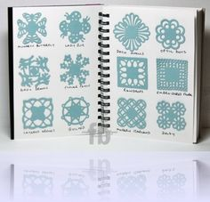 Stamp Owl Studio Tutorial: Medallions using Martha Stewart Corner Punches!