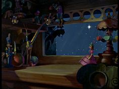 Screencap Gallery for Pinocchio Bluray, Disney Classics). Inventor Gepetto creates a wooden marionette called Pinocchio. His wish that Pinocchio be a real boy is unexpectedly granted by a fairy. Disney Background, Cartoon Background, Paint Background, Animation Background, Walt Disney, Disney Magic, Disney Pixar, Disney Land, Pinocchio Disney