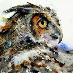 Contoh Lukisan Burung Cat Air Yang Memukau