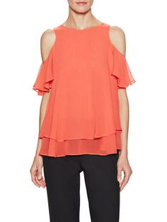 Silk Fifi Cold Shoulder Top from Mobile Preview: Rachel Zoe on Gilt