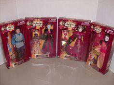 Hasbro Star Wars Set Of 4 Queen Amidala Dolls,Beautiful Braids Padme Doll NRFB #Dolls
