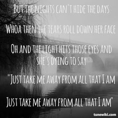 "-- #LyricArt for ""All That I Am"" by Parachute"