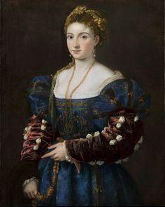 Portrait of a Girl in a Blue Dress  Titian  1536