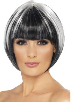 silver streaks in dark hair - Google Search