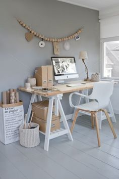 Browse pictures of home office design. Here are our favorite home office ideas that let you work from home. Shared them so you can learn how to work. Home Office Space, Office Workspace, Home Office Design, Home Office Decor, House Design, Home Decor, Office Ideas, Workspace Design, Small Office
