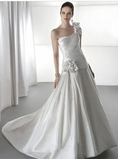 Simple Wedding Dress,Bridal Gown,Wedding Dress,Gorgeous Wedding Dress,Custom Made Wedding Dress,Wedding Dress With Handmade Appliques,PD190019