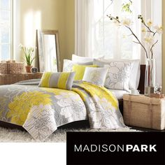 yellow & gray bedroom | guest room | pinterest | yellow gray