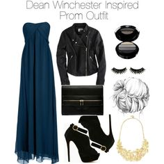 """""""Supernatural - Dean Winchester Inspired Prom Outfit"""" by staystronng Tv Show Outfits, Prom Outfits, Fandom Outfits, Dress Outfits, Cute Outfits, Fashion Outfits, Movie Outfits, Party Fashion, Supernatural Inspired Outfits"""