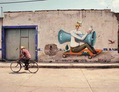 Interesni Kazki Street Art  A creazy body parade by Interesni Kazki, Waone and Aec.